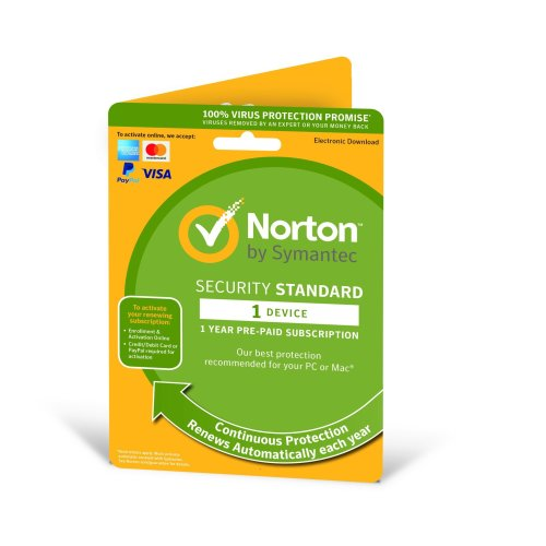 Norton Security Standard 2020 1 User & 1 Device - 1 Year Subscription with Automatic Renewal