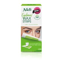 Nad's Eyebrow Wax Strips - Facial Hair Removal for Women - Eyebrow Wax Kit with 6 Eyebrow Waxing Strips + 6 Calming Oil Wipes + 2g Skin Protection Pow
