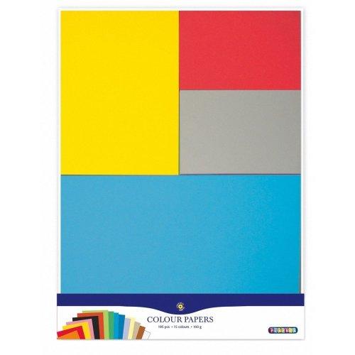 15 colours 195 pcs, 100gsm PBX2471194 - Playbox Coloured Paper