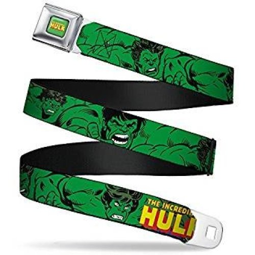 Seatbelt Belt - Marvel - Hulk V.3 Adj 24-38' Mesh New hua-whu001