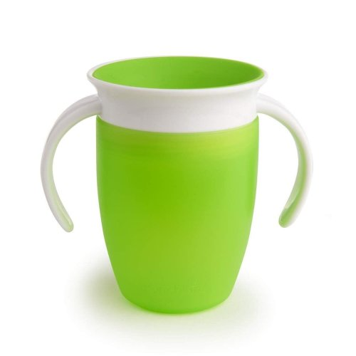 (Green) Munchkin Miracle 360 Trainer Cup 207ml - Green