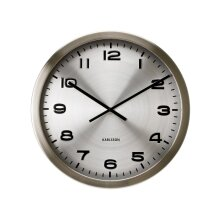 Maxie Wall Clock, Silver Steel