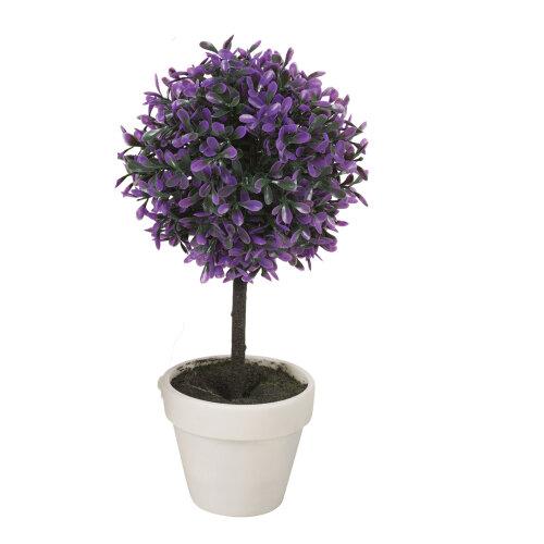 (Medium, Purple ) 2X Artificial Outdoor Ball Plant Tree