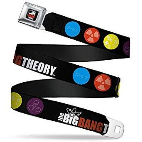 Seatbelt Belt - The Big Bang Theory - V.4 Adj 24-38' Mesh New bbta-wbbt011