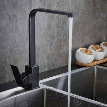 Black Kitchen Sink Taps Mixer Single Lever Basin Brass Mono Faucet