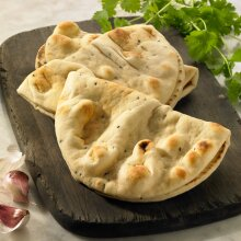 Baked Earth Frozen Large Folded Naan Breads - 24x80g