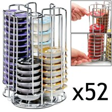 52 Rotating T-Disc Holder Rack for Bosch Tassimo Coffee Machine Capsule Pods (52 Pod Tower Dispenser)