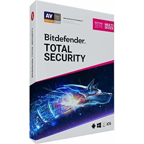 Bitdefender Total Security Multi-Device 2019 Edition | 5 Devices - 1 Year Digital License