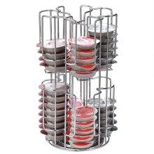 Rotating Capsule Coffee Pods Holder Storage Rack for 64 Tassimo Capsules