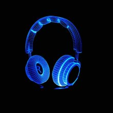 Night Light Boy Bedroom Decor Best Gift 3D Colorful Dj Headphone Night Light Studio Music Monitor Headset HiFi Music Earphone Led Table Lamp