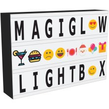 MagiGlow A4 Cinema Light Box: Enhanced Cinematic Letter Box with 110 Characters/Emojis, Storage And 8hr Power Timer