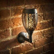 Realistic Flame Effect Mason & Jones Morocco Flame Effect Solar Wall Light