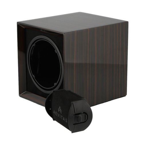 Watch Winder for 1 Watch Macassar Wood with Rechargeable Battery by Aevitas