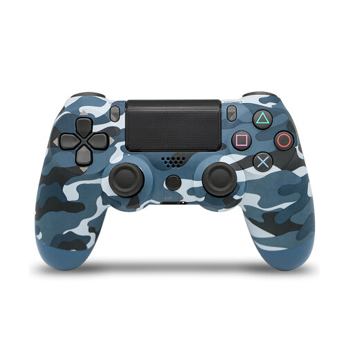 Unofficial Blue Camouflage Wireless Controller For Playstation 4/Slim/Pro Console