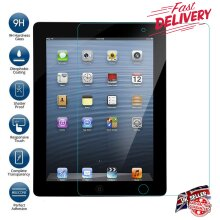 Ultra Clear 9H Hard Anti Shatter Anti Fingerprint Scratch Resistant HD Tempered Glass Screen Protector for Apple iPad 2/3/4 (2nd 3rd 4th Generation)