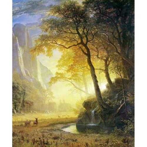 Hetch Hetchy Canyon Poster Print by Albert Bierstadt, 10 x 12 - Small