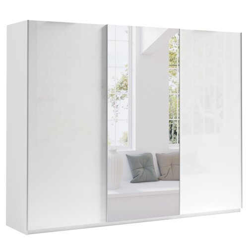 Sliding Door 270 Wardrobe MAROCCO with 9 Shelves & 2 Rails