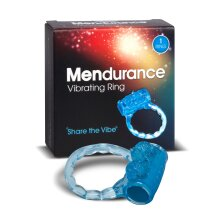 Mendurance Vibrating Ring, blue stretchy ring with bumps and ticklers