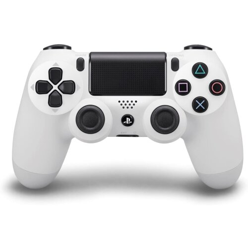 Sony DualShock 4 Controller | Official PlayStation PS4 Controller - Glacier White