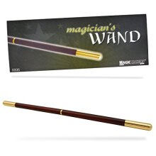 Magic Makers Pro Model Magician's Wand - 13.5 Inches Real Wood with Metal Tips