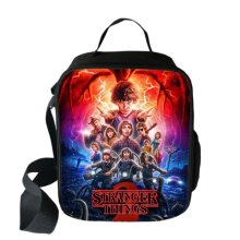 Wokex Stranger Things Cooler Lunch Bag Cartoon Girls Portable Thermal Food Picnic for School Kids Boys Box Tote