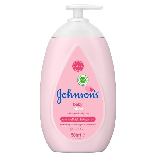 JOHNSON'S Baby Lotion 500ml - Gentle and Mild for Delicate Skin and Everyday Use - 24h Moisturisation