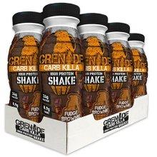 Grenade Carb Killa Fudge Brownie High Protein Shake Bottles, 8 x 330 ml