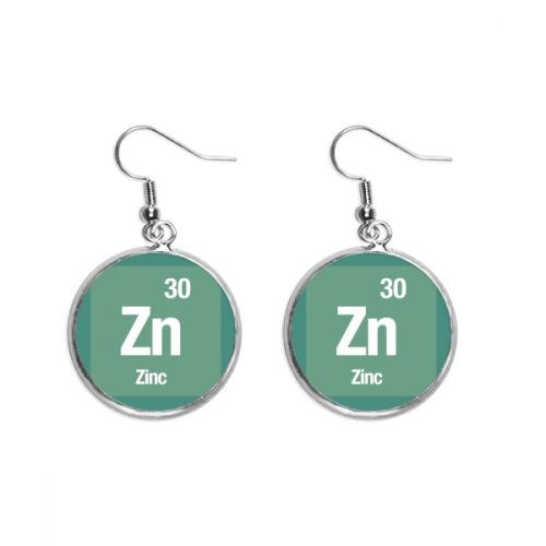 Zn Zinc Chemical Element Science Ear Dangle Silver Drop Earring Jewelry Woman