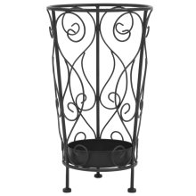 vidaXL Umbrella Stand Vintage Style Metal 26x46cm Black Walking Stick Holder