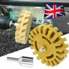 4'' Rubber Eraser Wheel Pin Stripe Decal Car Sticker Pneumatic Removal Tool UK