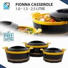 3Pc Hot Pot Thermal Insulated Casserole Food Warmer Serving Dish Black