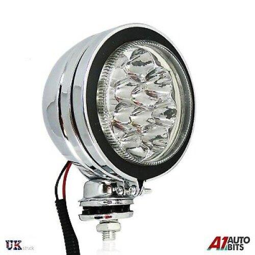 "4"" ULTRA BRIGHT CLEAR SPOTLIGHT WITH LED CHROME CAR TRUCK SPOTLIGHT FOG LIGHT"