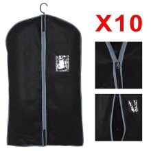 10x Breathable Garment Suit Covers Clothes Dress Carrier Bag Zipper