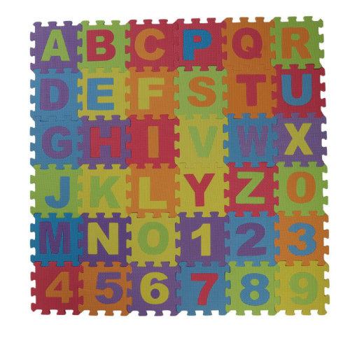 36pc Kids' Alphabet & Numbers Foam Jigsaw Puzzle Pieces Mat