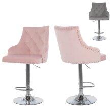 Swivel Bar Stool Adjustable Velvet Chair