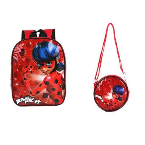 Miraculous Ladybug Trolls School Backpack Bag Kids