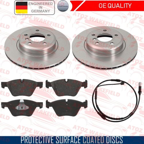 FOR BMW 520d F10 F11 FRONT OE QUALITY COATED BRAKE DISCS PLATINUM PADS WIRE 330
