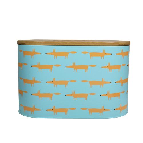 Scion Mr Fox Blue Bread Bin