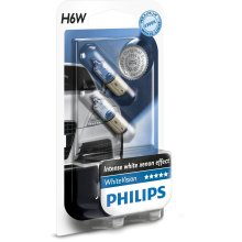 Philips WhiteVision Xenon effect H6W car bulb 12036WHVB2, double blister