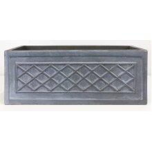 Window Box Faux Lead Lattice Grey Light Stone Planter by IDEALIST Lite