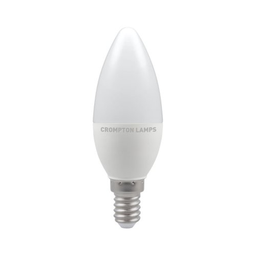 Crompton LED Thermal Plastic Candle Bulb, E14 5.5W Non-Dimmable, Daylight, Opal Finish