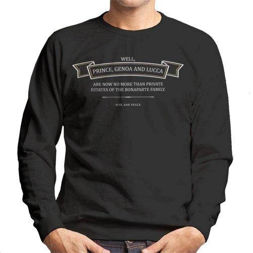 Must Read Opening Lines War And Piece Leo Tolstoy Men's Sweatshirt