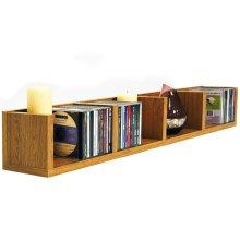 VIRGO - 84 CD / 56 DVD / Blu-ray / Video Multimedia Wall Storage Shelf - Oak
