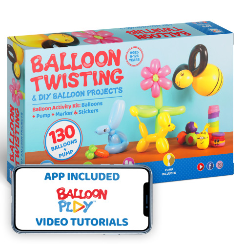 130pc Deluxe Balloon Animal Making Kit | Professional Balloon Modelling Kit