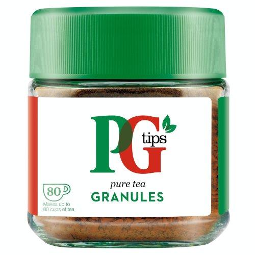 PG Tips Pure Tea Granules (Pack of 1, Total 80 Cups of Tea)
