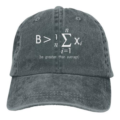 Be Greater Than Average Nerd Denim Baseball Caps