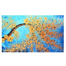 Home Creative 50-Inch TV Cloth Decorative Dustproof Cover, Gold Tree