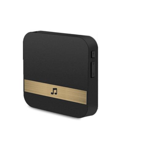 (Black Chime) Wireless Video Doorbell Camera WiFi Smart Doorring