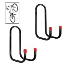 2 x Heavy Duty Double Bike Storage Hooks Wall Mounted Ladder Bicycle Garage shed
