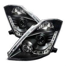 Spyder S2Z-5032225 Halo Projector LED Headlights for Nissan 350Z 2003-2005 - Black